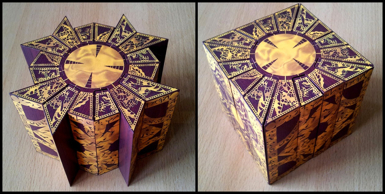 Hellraiser lemarchand puzzle box papercraft papercraft paradise a lemarchands box is a mysticalmechanical device that acts as a door or a key to a door to another dimension appearing in horror stories by clive barker jeuxipadfo Gallery