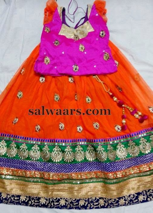 Orange Skirt with Heavy Border