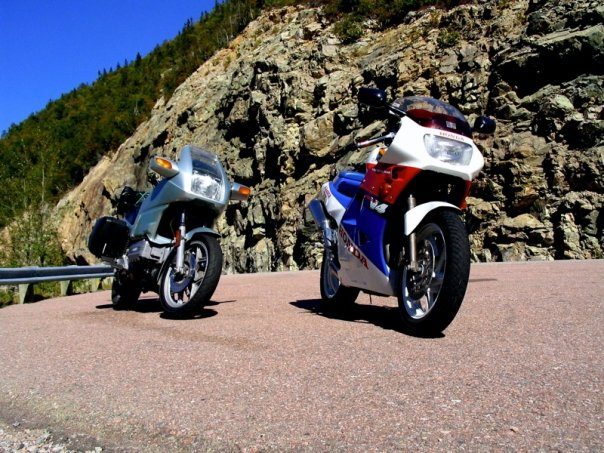 BMW K100RS Honda VFR400R Cabot Trail