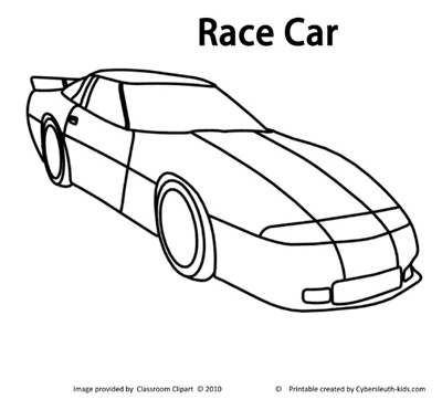 Race car coloring pages free printable pictures coloring for Race car color page