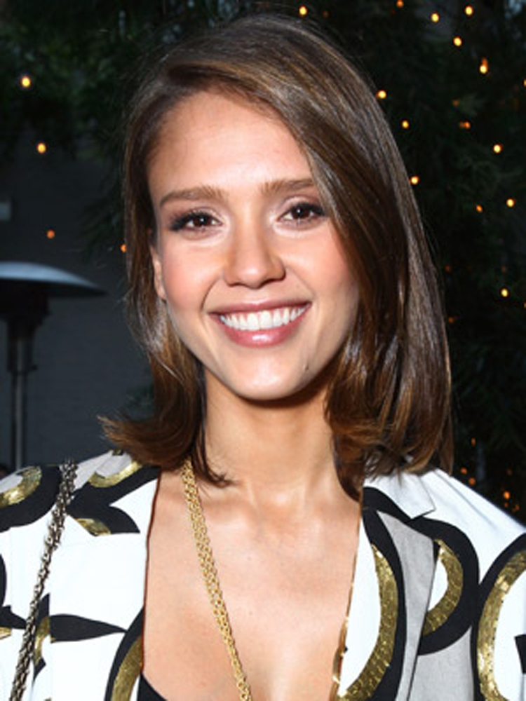 Stylish Medium Hairstyles Jessica Alba
