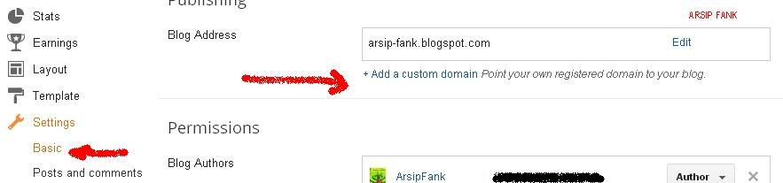Custom Domain ke blogspot