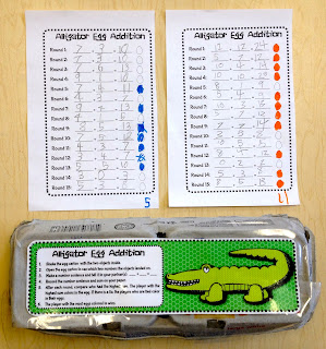 Egg Carton Addition Games and Subtraction Games