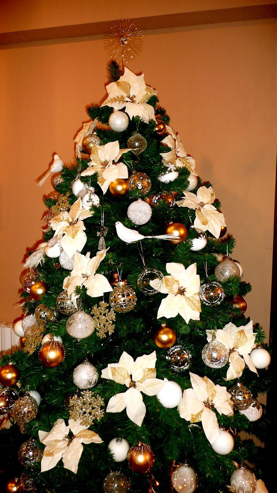 D corandluxe rbol de navidad en cristal y oro - Fotos arboles navidad decorados ...