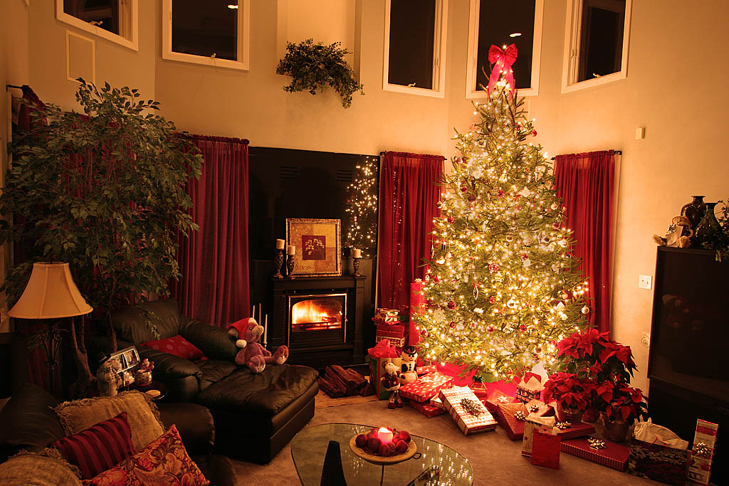 Decorar salas en navidad ideas para decorar dise ar y mejorar tu casa - Salones decorados para navidad ...