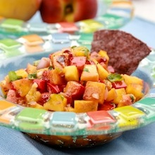 how to make recipe for grilled peach chipotle salsa?