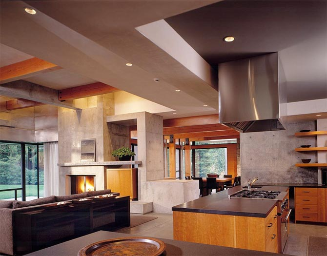 Home design interior northwest contemporary house design ideas woodway residence - Modern house interior design kitchen ...