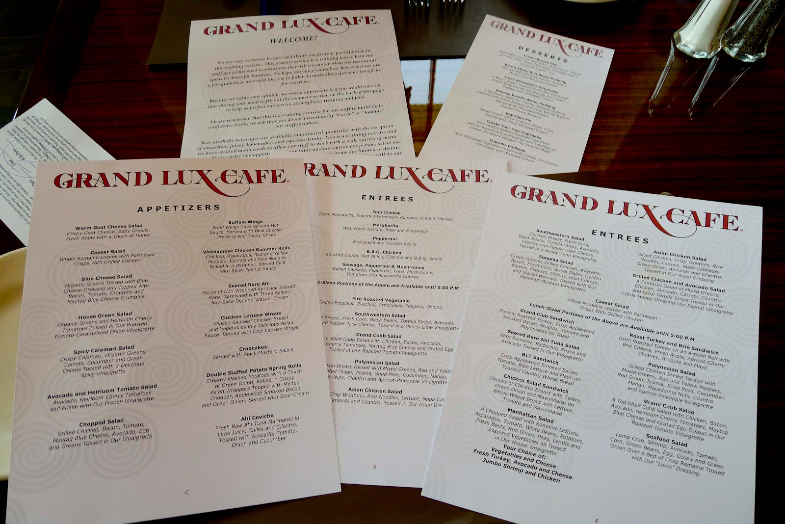Grand Lux Cafe Cooks