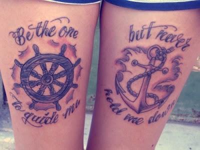Wonderful Matching Couple Tattoos