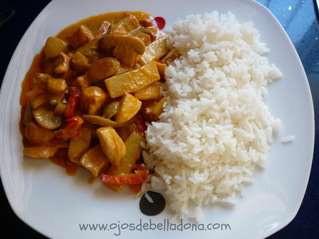 Curry Rojo de Pollo