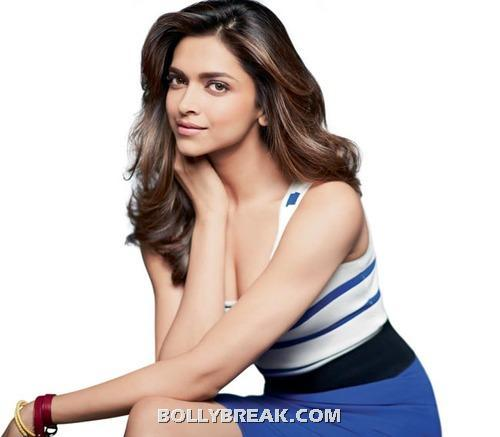 Deepika padukone blue and white dress hot pic -  Deepika Padukone Women's Health July 2012