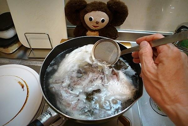鯛アラにゅうめんの作り方(2)