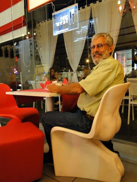 His Chair at Bianco Rosso Pasteria Lviv Ukraine