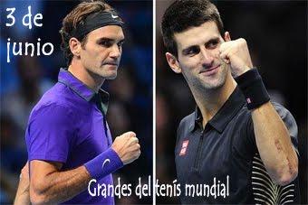 Cuatro grandes del tenis mundial
