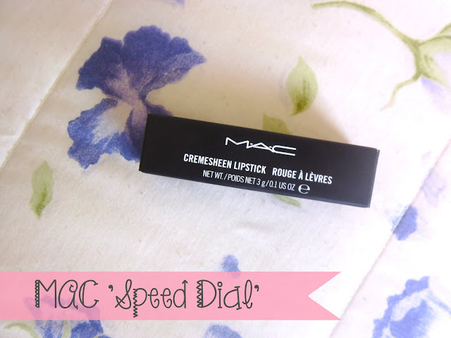 MAC speed dial lipstick