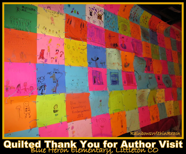 photo of: Quilted Thank You for Author Visit via RainbowsWithinReach