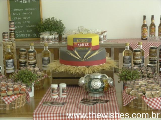decoracao niver boteco:Wishes Eventos: Décor Inspiração: Festa de Aniversário Boteco