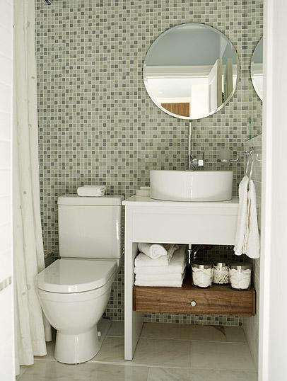 Baño Visitas Medidas:Small Bathroom Design Ideas