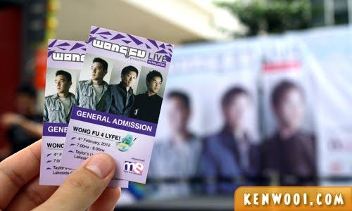 wongfu malaysia tickets