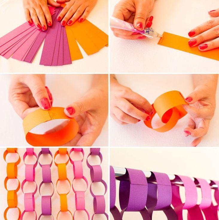 Картинки как сделать гирлянду из бумаги