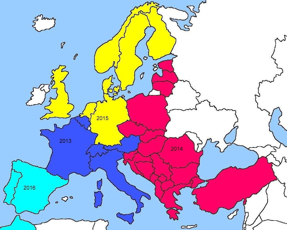 Map of European Travels