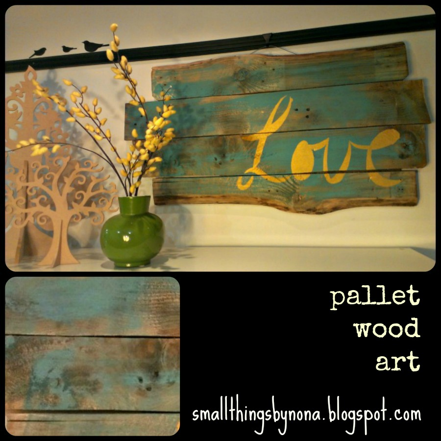 Wall Art With Wood Pallets : Smallthingsbynona pallet wood wall art
