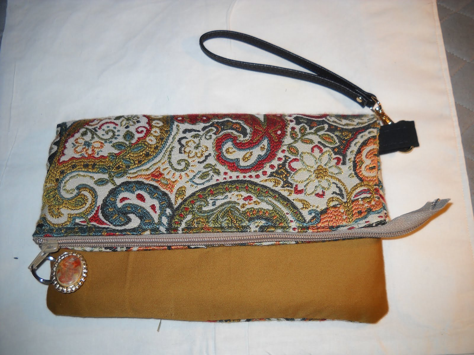 Gold Tapestry Clutch and Wristlet