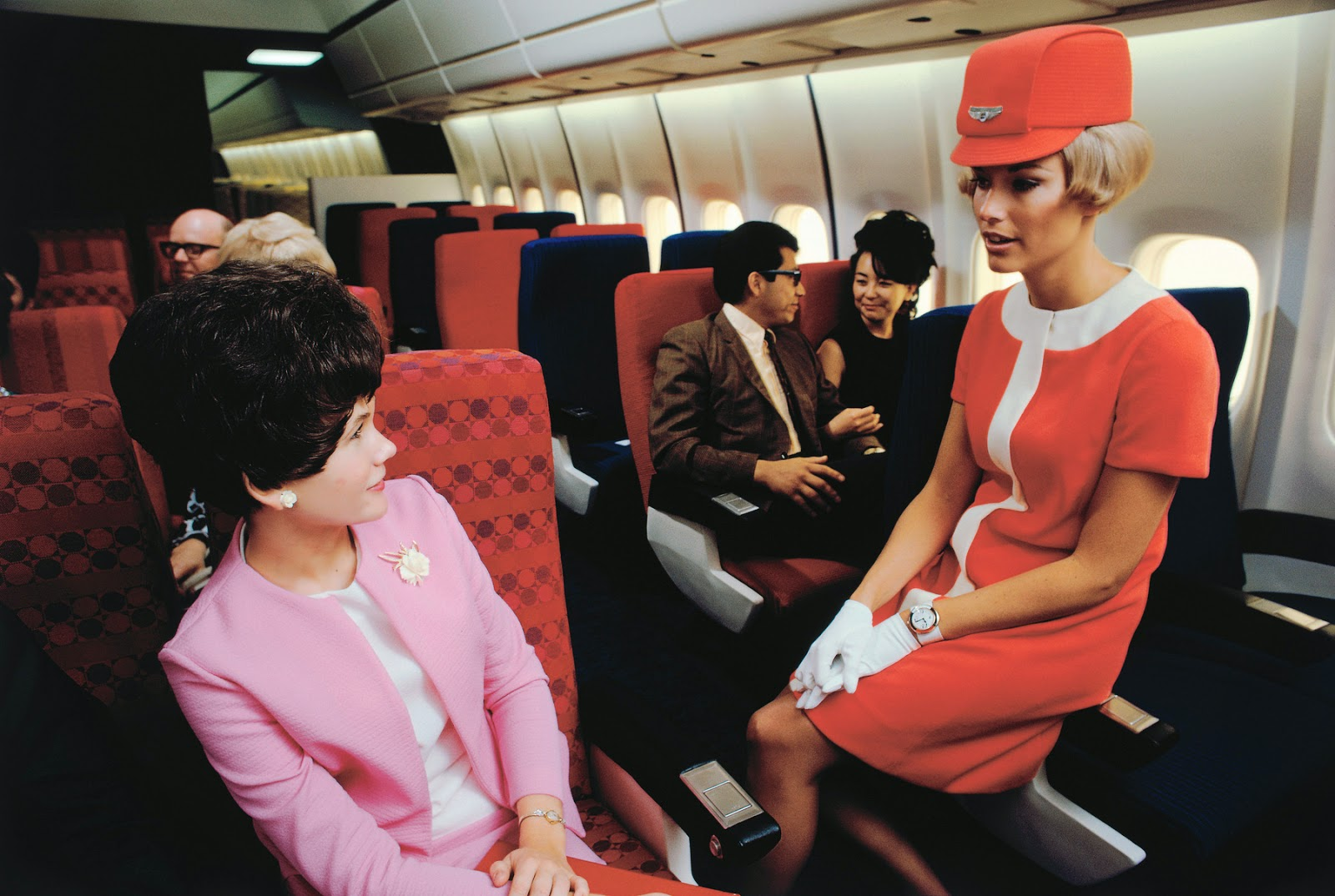 United Airlines Flight Attendant 25 Vintage Photos Show...