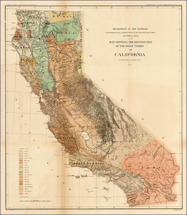 26 elegant California Native American Map