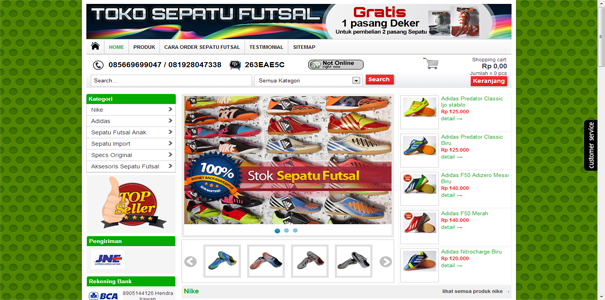 Sepatu Futsal, polisi online