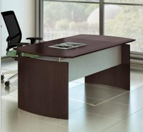 Mayline Medina Desk in Mocha