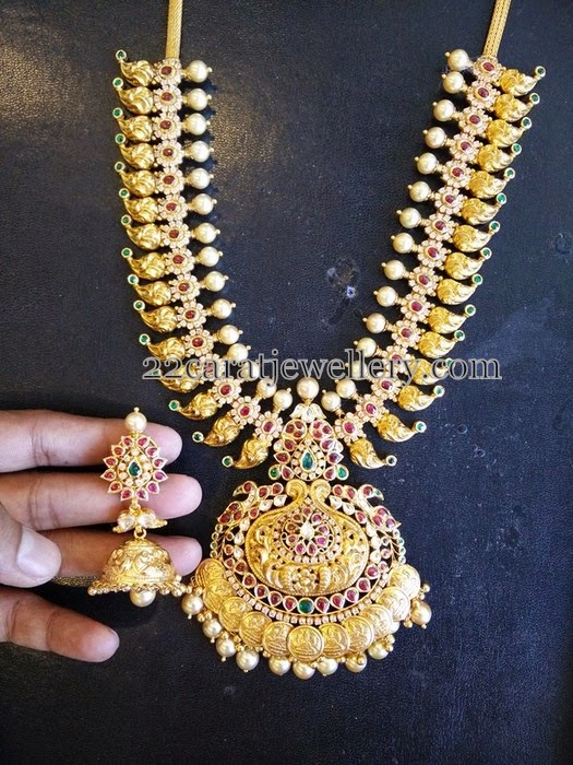 Heavy Short Mango Necklace Sets