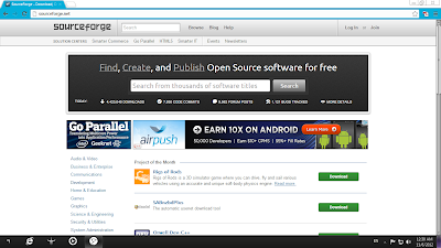 Sourceforge.com Homepage