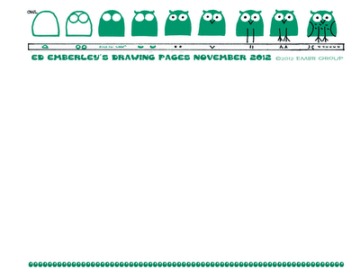 Ed Emberley's Drawing Pages - Owl