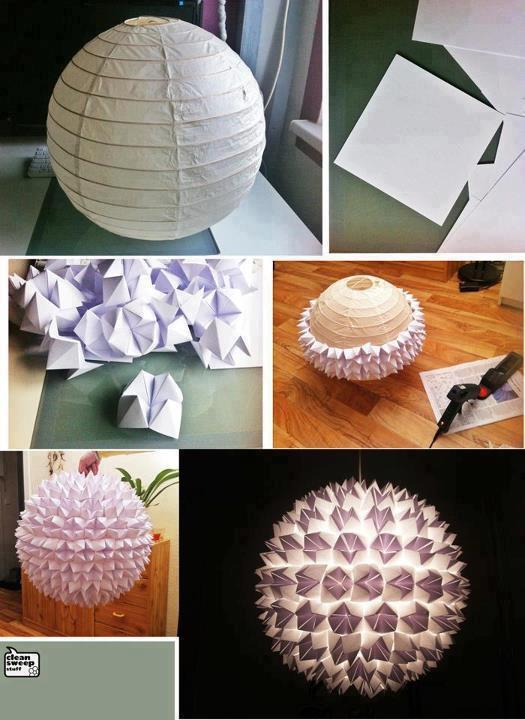 lamparas de papel pantallas para decoracin with como hacer lamparas de techo artesanales