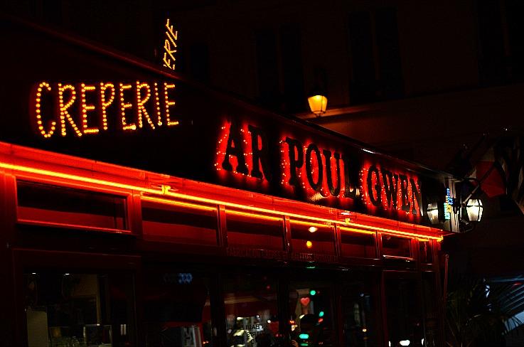 Paris street, Creperie, Ar poul Gwen, paris