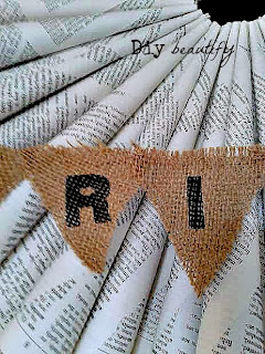 mini burlap banner
