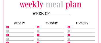 MEAL PLAN + SHOPPING LIST FREE PRINTABLES