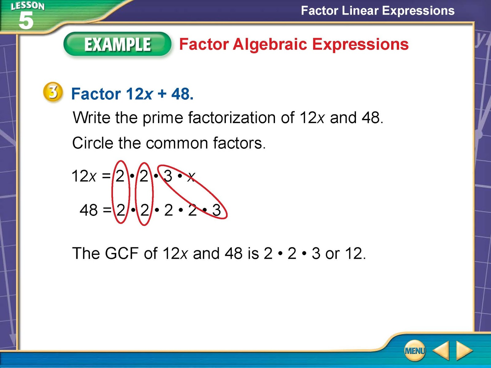 Math with Mrs. Rooks: 11/3/15 Factor Linear Expressions