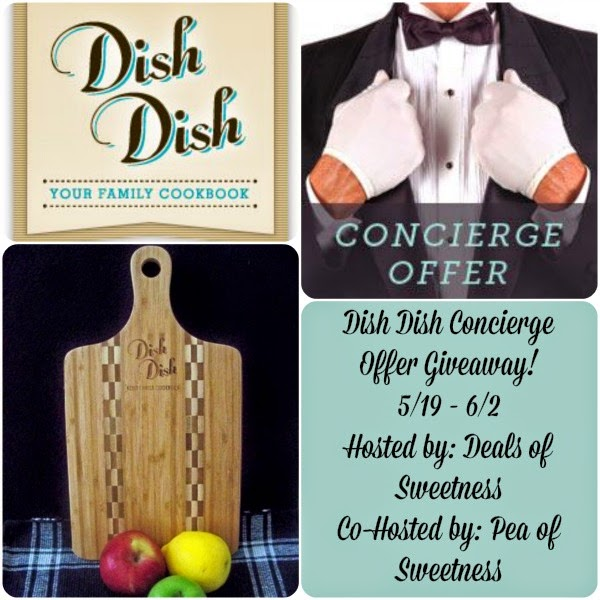 Dish Dish Concierge Offer with Bamboo Cutting Board Giveaway