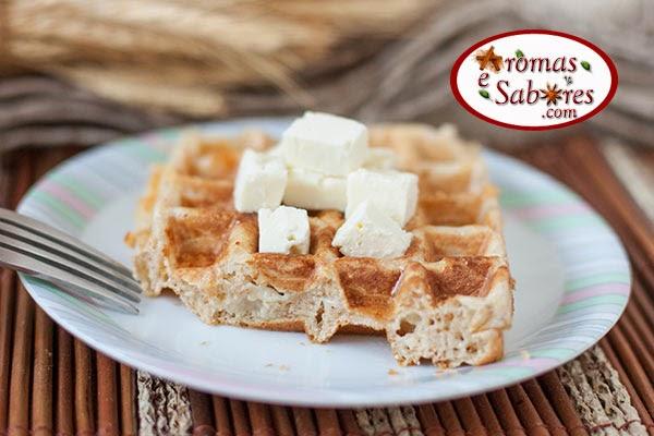 waffles integrais com queijo