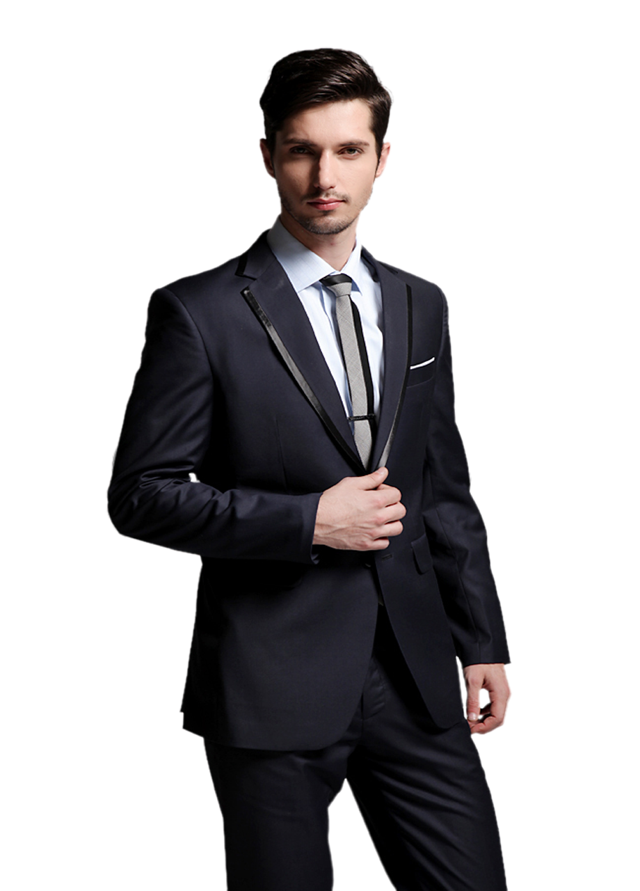 Fashion bespoke suits online navy blue men s suits for The tuxedo house