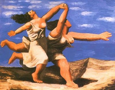 Dos mujeres corriendo en la playa (La carrera) de Picasso
