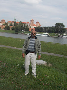 On the  embankmant of Vitsula river with Wawel Castle in the Background.