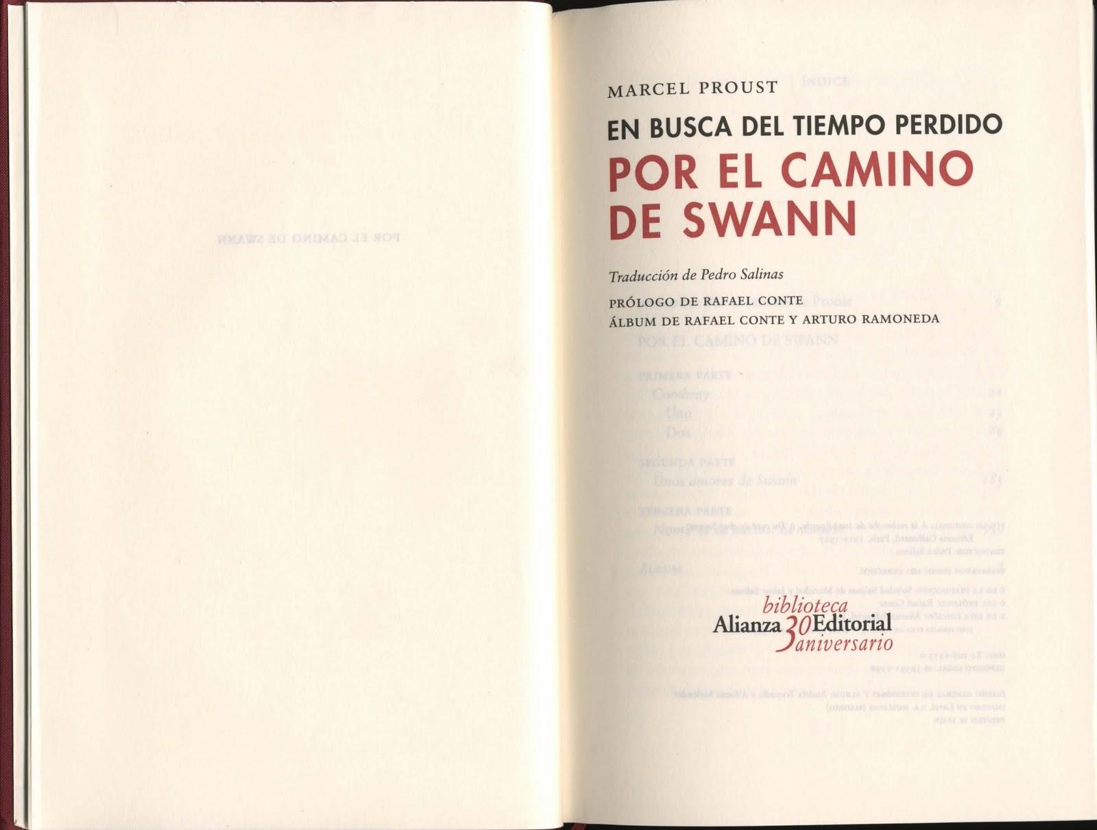 Biblionoticiario Por El Camino De Swann En Busca Del
