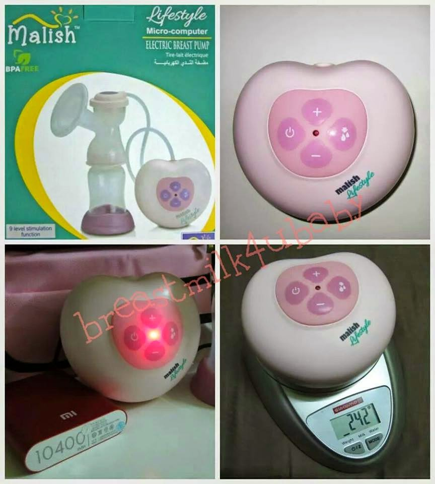 Malish Pinky Lifestyle Micro-computer Electric / Battery Breastpump Single Snowbear