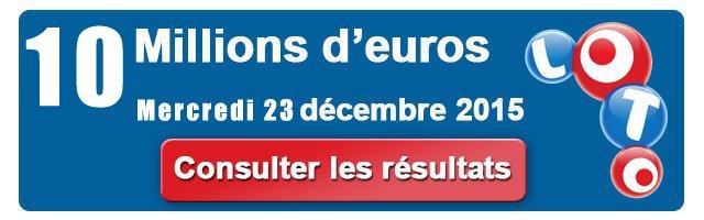 Le résultat du Loto, pour le tirage du Mercredi 23 Décembre et son Jackpot de Noël, sera effectué ce soir. A moins de 24 heures d'une soirée de Réveillon qui sera chargée pour nous tous, la Française des Jeux nous donne une nouvelle possibilité de décrocher le gros lot.