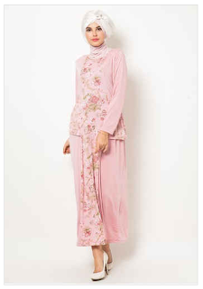 Kumpulan Baju Muslim Jersey Motif untuk Wanita