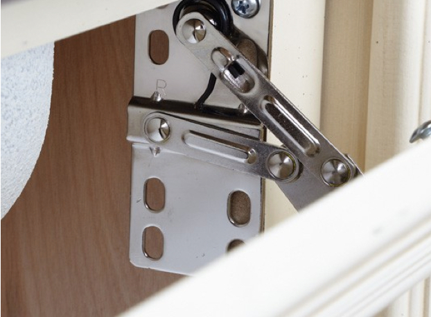 hinges for kitchen sink tip-out tray