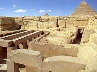 A view of the valley temple of Khafre